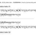 ZCOOL Addict Italic站酷意大利字體-umshare聯合分享網